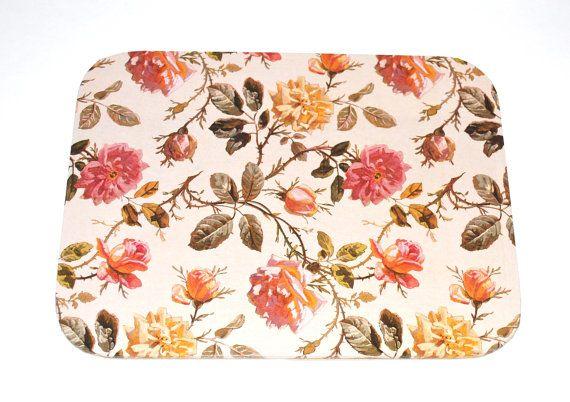 Mousepad Rose Untersetzer Ablage handmade von Arsunica auf Etsy, €9.00