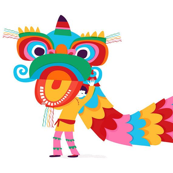 Happy New Year  舞獅 Lion Dance: Limited Edition Pigment Print