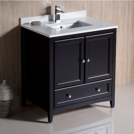 """Fresca Oxford 30"""" Antique White Traditional Bathroom Vanity, Dimensions of Vanity: 30"""" W x 20-3/8"""" D x 32-5/8"""" H"""