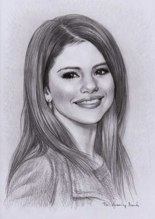 This is a good drawing of Selena Gomez