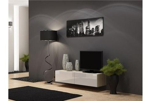 Meuble TV CHLOE DECORATION Meuble tv design suspendu Vito 140cm 109€ darty