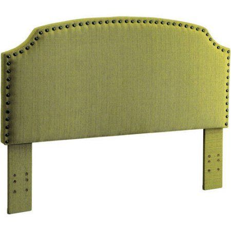 Furniture of America Nalyssa King Padded Fabric Headboard, Multiple Colors, Green