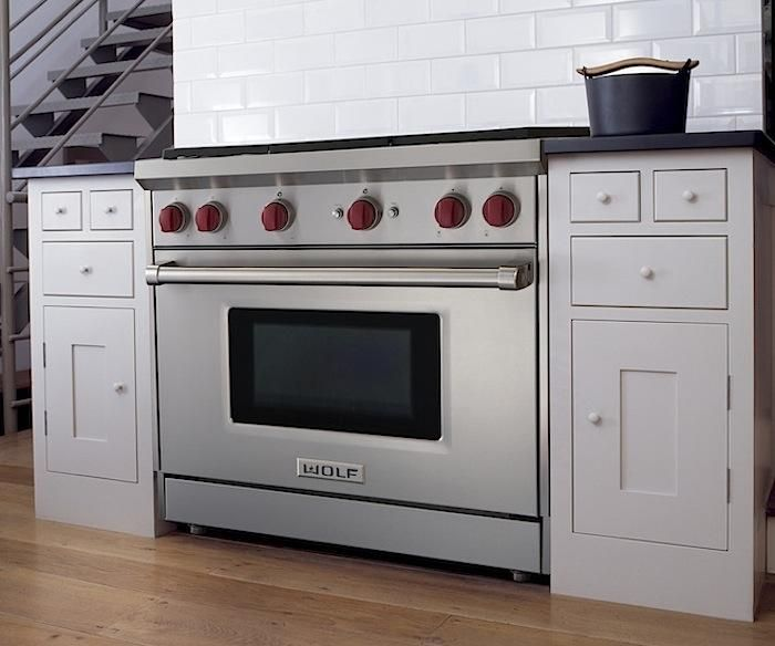 Exceptional Wolf Kitchen Appliances Prices #5: 17 Best Ideas About Wolf Range On Pinterest | Wolf Stove, Back Splashes And  Brick Backsplash White Cabinets