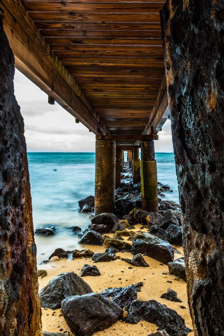 Under The Pier Oahu Hawaii Tmophoto Landscape And Night