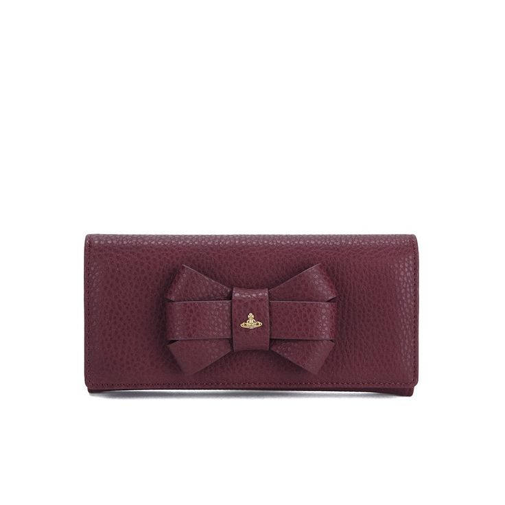 Get Vivienne Westwood Women's Bow Fold Purse - Bordeaux now at Coggles - the one stop shop for the sartorially minded shopper. Free UK & EU delivery when you spend £50.