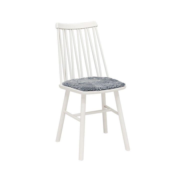 Bildresultat för zigzag stol vit fårskinn