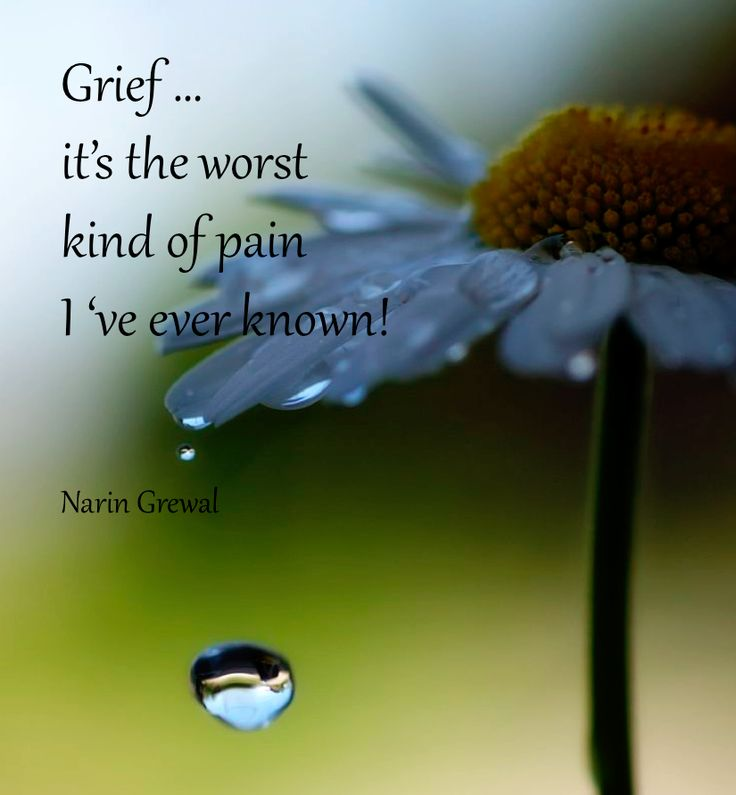 Grief, it's the worst ...