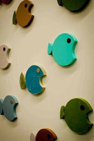 wooden fish for walls