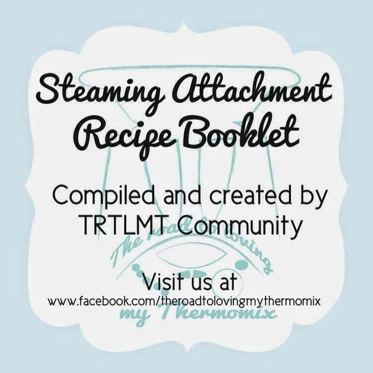 My My My Myyyy Varoma: Steaming attachment recipe booklet