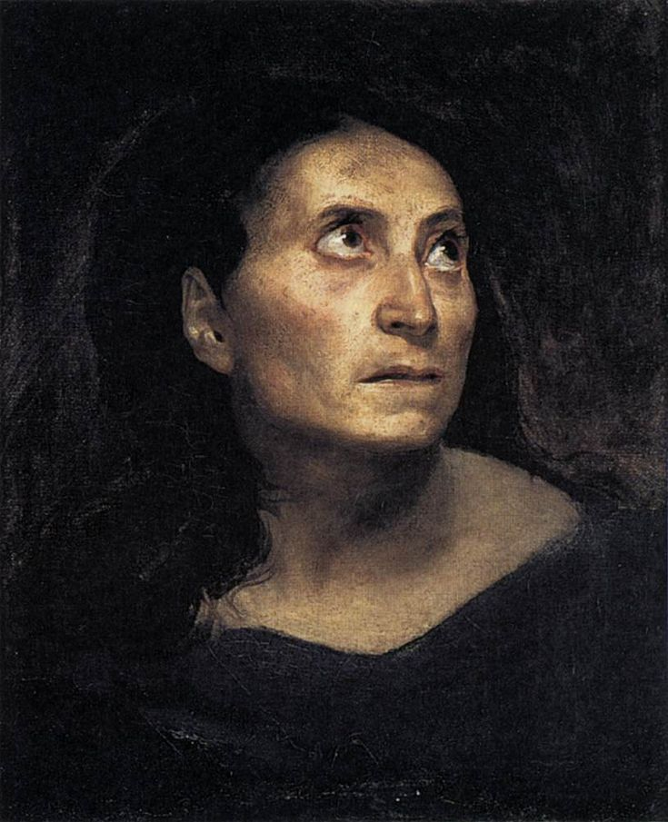 Eugene Delacroix (1798-1863) A Mad Woman Oil on canvas 1822 33 x 41 cm (12.99 x 16.14)