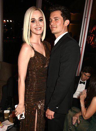 Katy Perry & Orlando Bloom at the Vanity Fair post-Oscar party, February 26, 2017