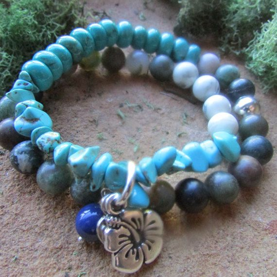 Handcrafted turquoise and frosted indian by canyonviewjewelry