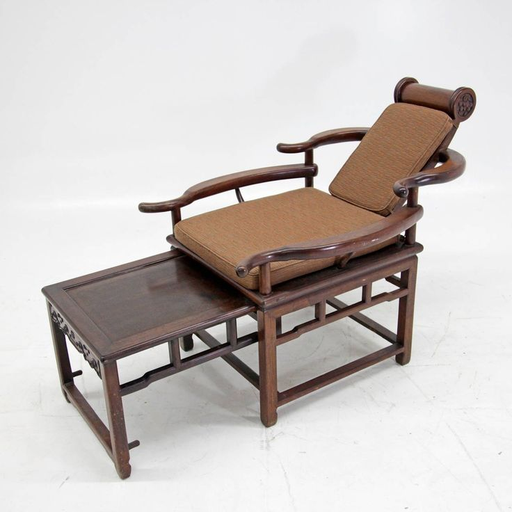 Exceptional Asian Recliner or Deck Chair, circa 1900  - 1910 2