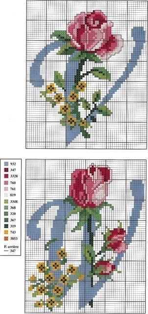 Cross stitch with roses (bbj3001) 22&23/26