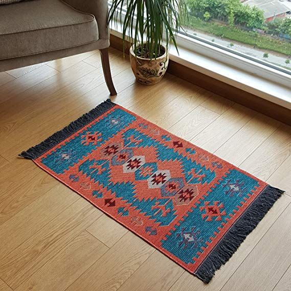 amazon com modern bohemian style small area rug 2 x 3 ft washable natural dye colors on boho chic kitchen rugs id=69683