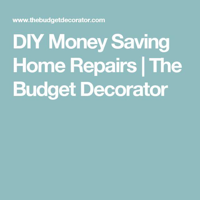 DIY Money Saving Home Repairs
