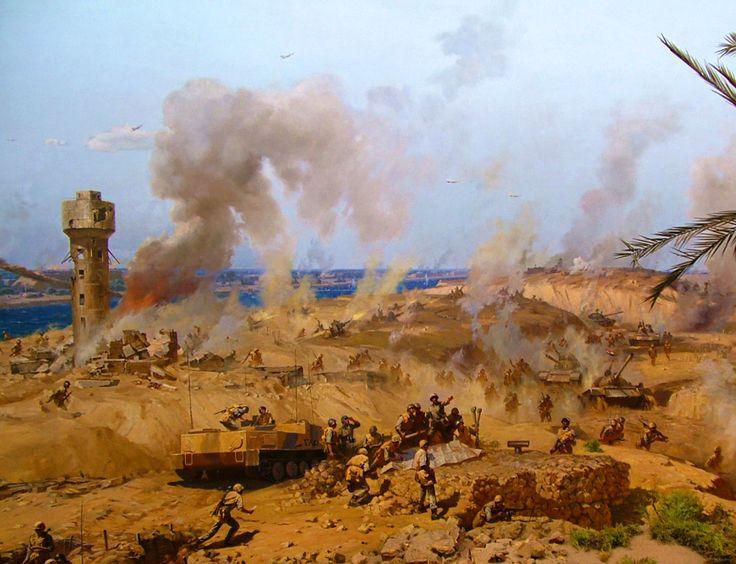 Egyptian forces advancing, Yom Kippur War