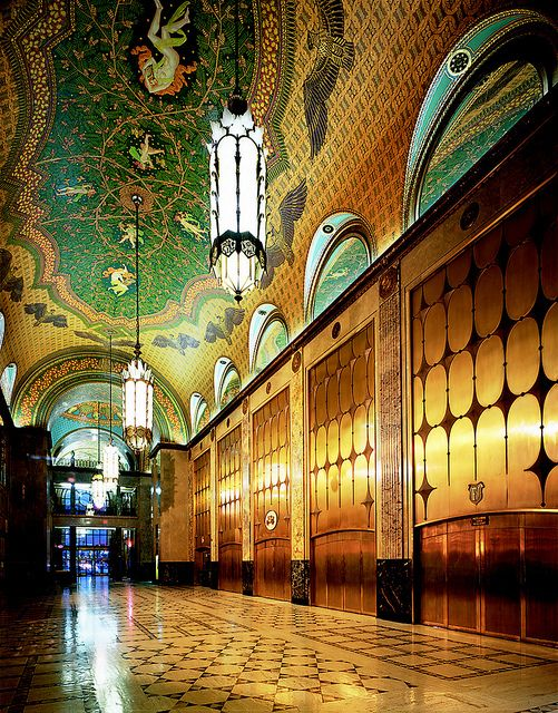 Fisher Building Lobby by Dig Downtown Detroit, via Flickr: Fisher Building, Travel Art, Buildings, Motors Cities, Architecture, Building Lobbies, Art Deco, Detroit Michigan, Pure Michigan