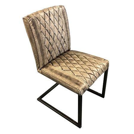 Industriële stoel vintage bruin. www.blockdesign.nl