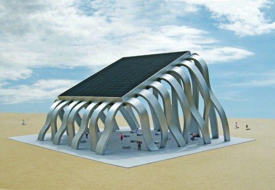 Michael Jantzen's Solar Eclipse Pavilion is a Public Sculpture that Doubles as a Renewable Energy Source