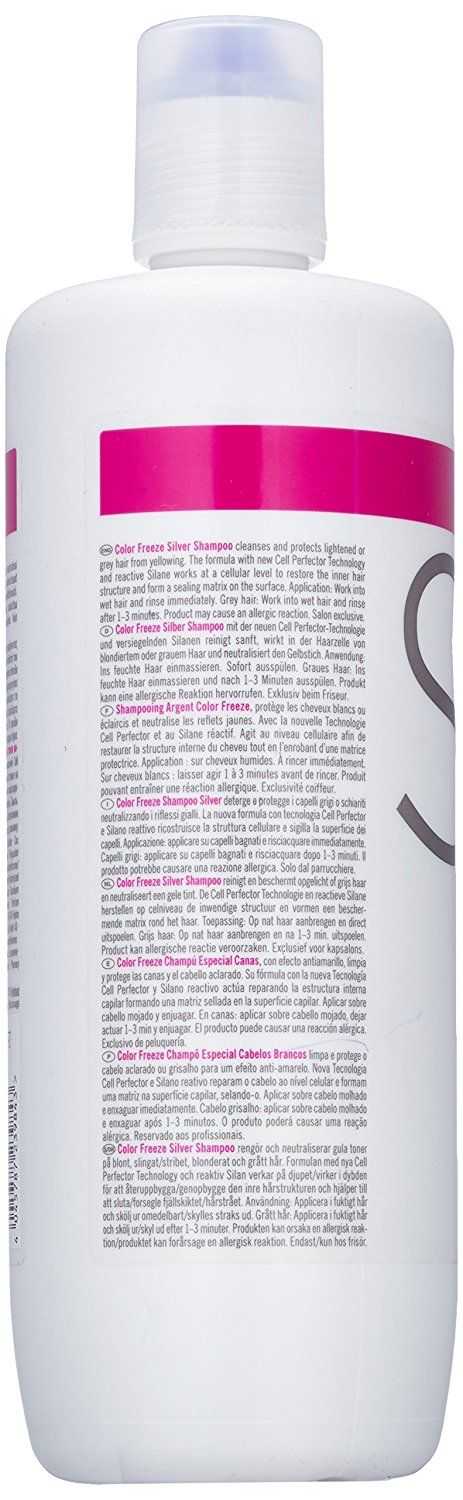 Schwarzkopf BC Color Freeze pH 4.5 Silver Shampoo (For Grey  #hairup