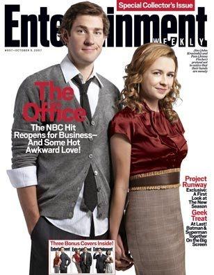 John Krasinski and Jenna Fischer on EW