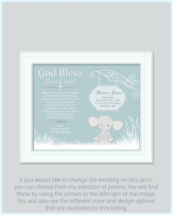 Baptism Gift Boy  Godchild Gift  Godchild by GoldHousePrints