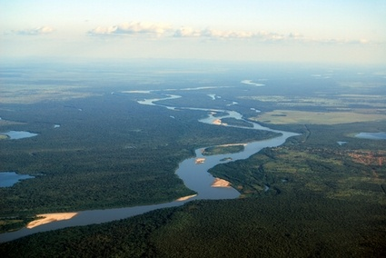 Seaplane flights launching from the confluence of the Amazon and the Tahuayo rivers