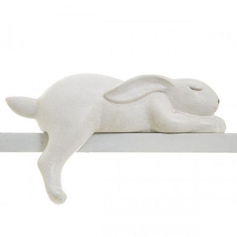 Sleeping shelf sitter bunny, 5cm high