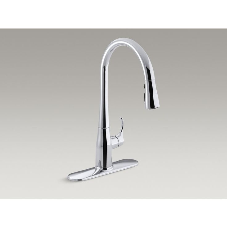 Kohler Co. R596-SD-CP Simplice Polished Chrome 1-Handle Pull-Down Kitchen Faucet | Lowe's Canada