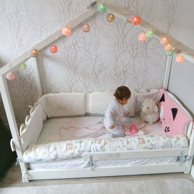 Kids Bed Bumpers Toddler Floor House Baby Cot Cushions Bed Cot Etsy Kid Beds Bed Bumpers Bed Rails For Toddlers