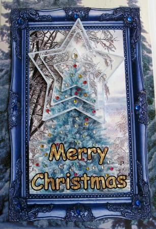 Blue Christmas on Craftsuprint created by Joy Comstock - This is very elegant…