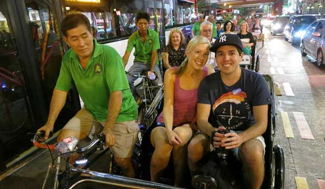 Singapore Tour: Chinatown Trishaw Night Tour Experience central Singapore during the vibrant evening hours with this 4-hour Chinatown tour by trishaw and riverboat. With a guide, visit a traditional Chinese medical hall, walk through the bustling Night Ma