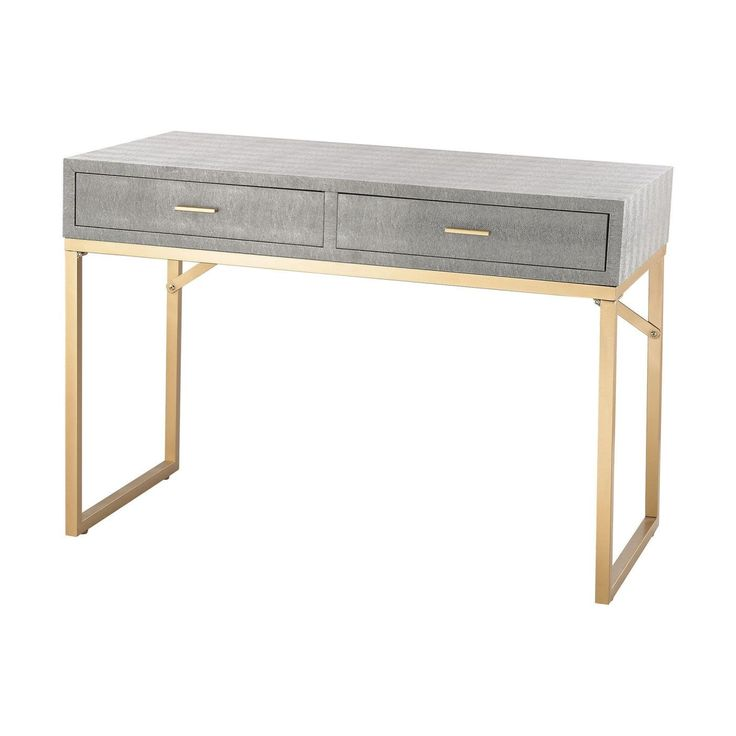 Nassau Point Desk Gold,Grey