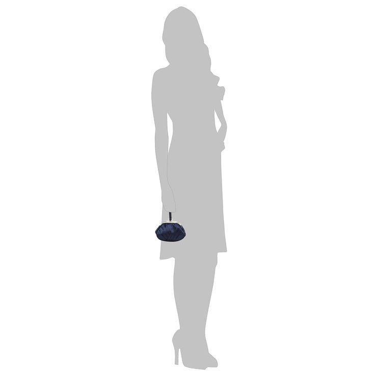 Navy fan pleated wristlet bag - Handbags & purses - Debenhams.com