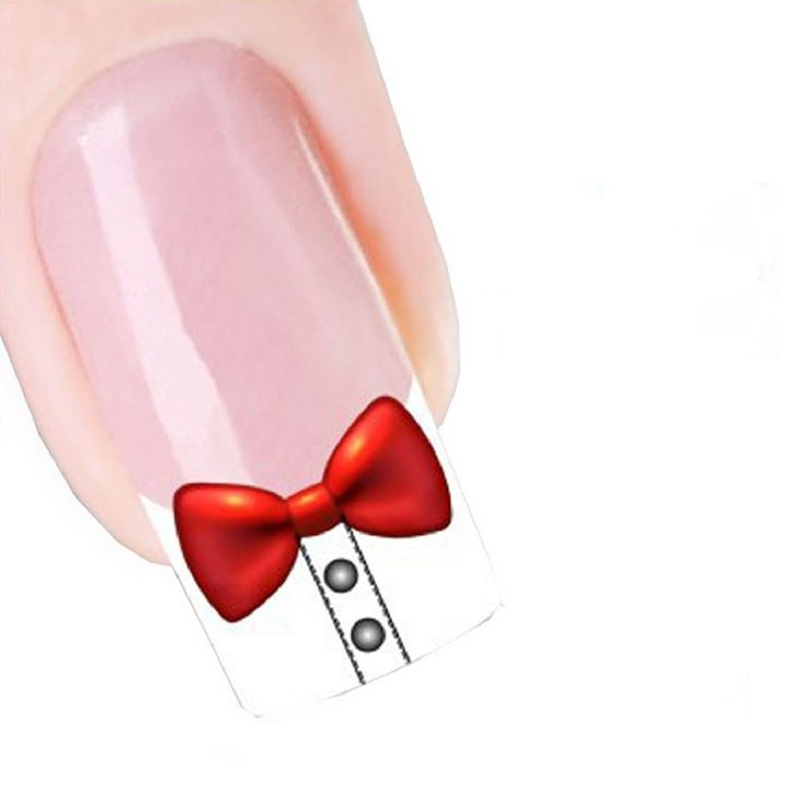 Generic Women's Sweet Modern Design Nail Tip Art Transfers Decal Sticker Bow. No glue required and just peel off to remove. Size:5.2CMX6.3CM. These look so cute and gorgeous on any colour nail varnish.
