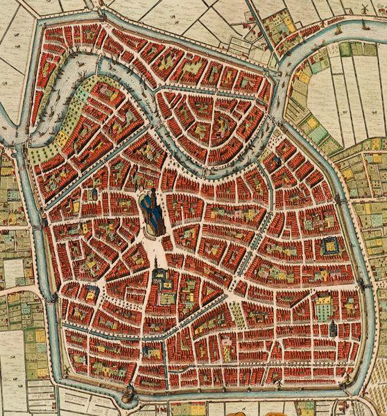 1646 plattegrond Haarlem