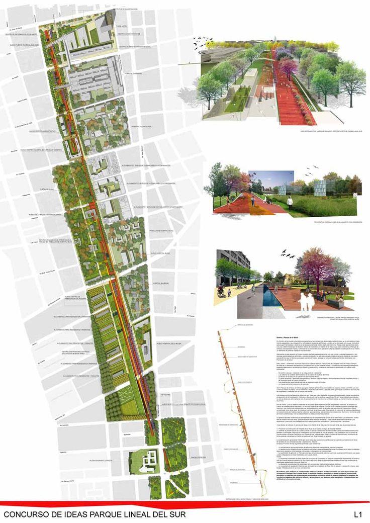 Concurso Nacional de Ideas Parque Lineal del Sur. Resultados : Sociedad Central…