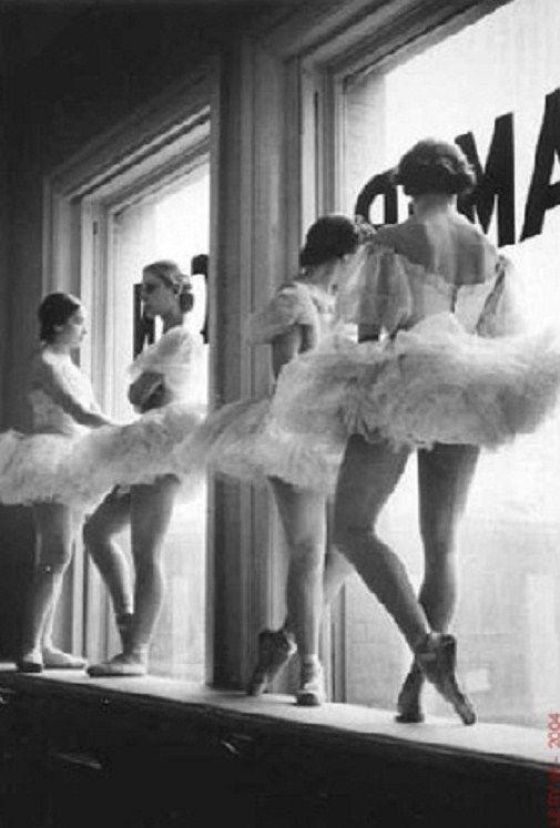 Vintage ballet scene ...