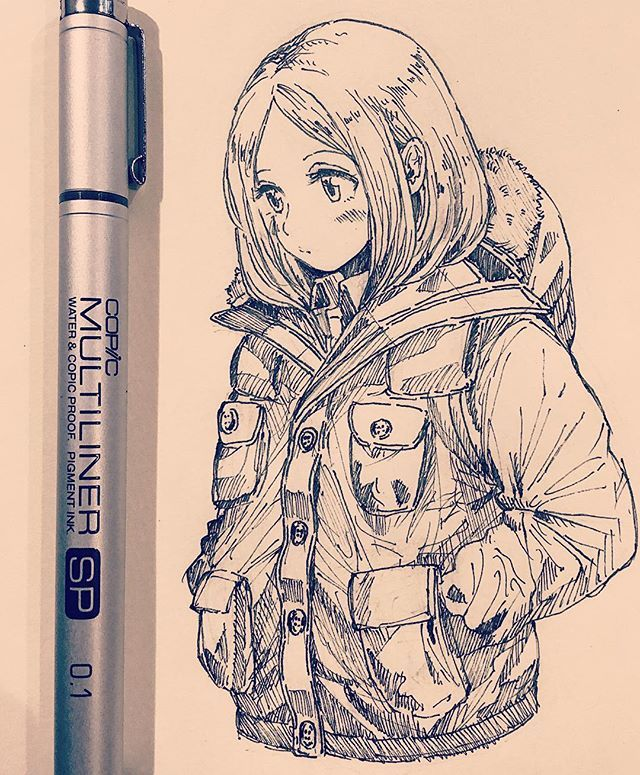 i really like the way the jacket is drawn
