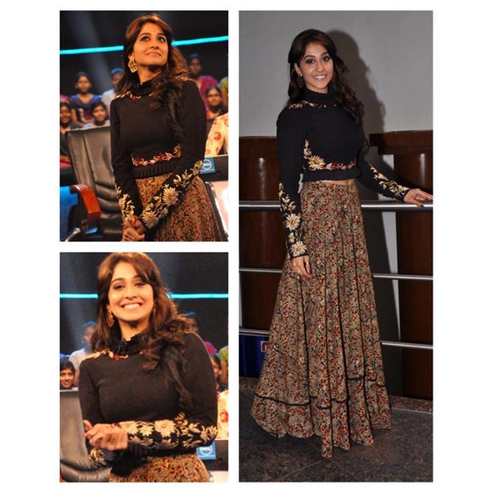 Regina Cassandra looked stunning and stylish in this number from Shilpa Reddy Studio's PARIS collection 2014 #malkha
