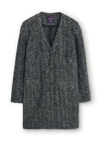 Пальто Violeta by Mango, цвет: серый. Артикул: VI005EWGPM75