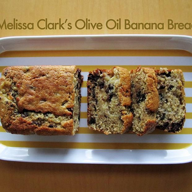 olive-oil-chocolate-chip-banana-bread | bread | Pinterest
