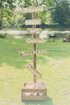#Schilder bei der #Hochzeit sind eine tolle Idee! #Vintage #Sign #Wedding – Das …
