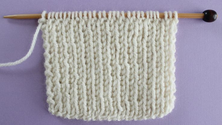 1x1 RIB STITCH PATTERN Learn EASY KNIT AND PURL STITCH PATTERNS in the Absolute Beginner Knitting Series by Studio Knit