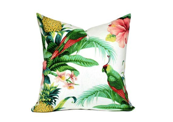 Tropical Square Cushion Cover Indoor Outdoor Cushion Palm Leaf