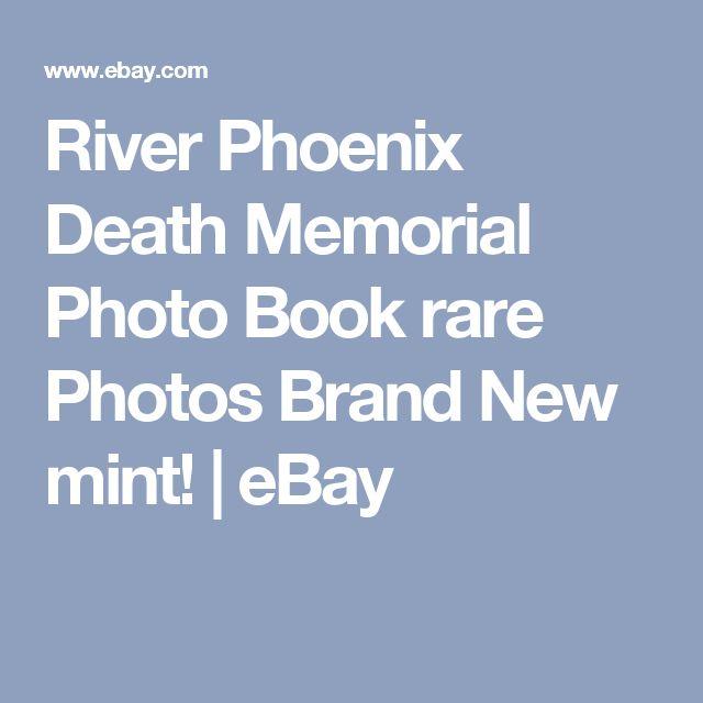 River Phoenix Death Memorial Photo Book rare Photos Brand New mint!  | eBay