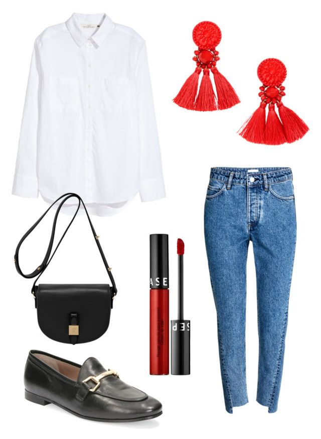 """""""Untitled #221"""" by stinasolheim on Polyvore featuring H&M, Sephora Collection and Mulberry"""