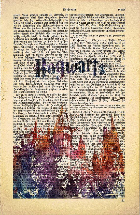 Hogwarts Schloss Harry Potter Print Hogwarts von SofiaPrintsArt