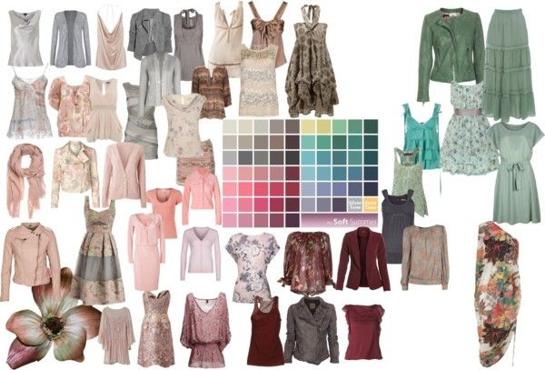 """""""Soft Summer Color Palette 2″ by blueskies22 ❤ liked on Polyvore"""